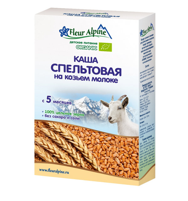 Каша Fleur Alpine Organic спельтовая, 200 гр
