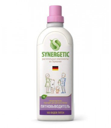 Пятновыводитель для стирки против 100 видов пятен гипоаллергенный, 1 литр, Synergetic