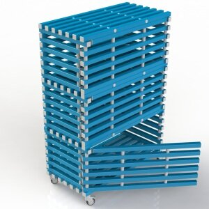 Стеллаж 3-секционный закрывающийся Аквамания, 1380 x 720 x 2005 мм, жесткий ПВХ, комбинация цветов на выбор Аквамания Стеллаж 3-секционный закрывающийся