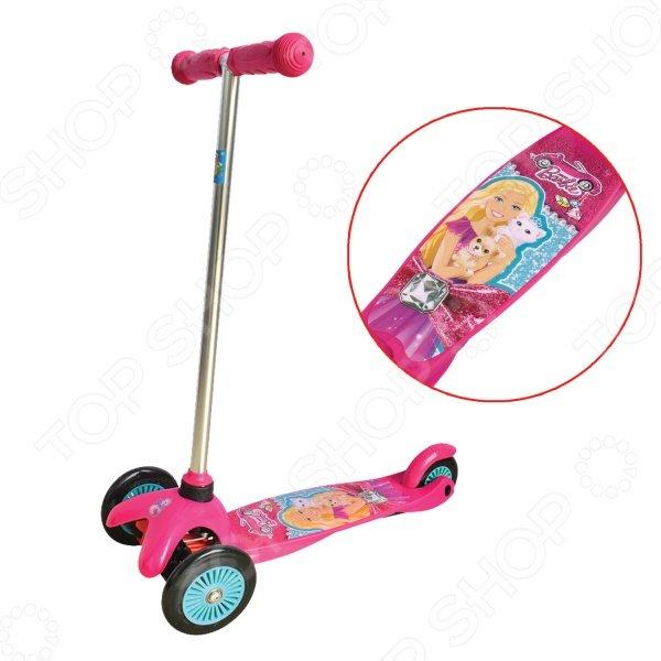 Самокат трехколесный 1 Toy Т57618 «Barbie»