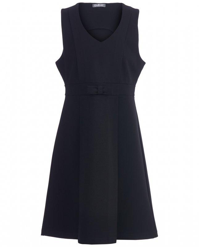 Платье GULLIVER 218GSGC5004 для девочки, цвет чёрный, рост 128, возраст 8 лет