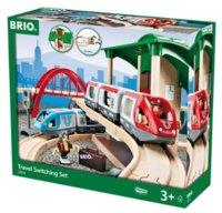Brio Стартовый набор двухуровневый с вокзалом 33512