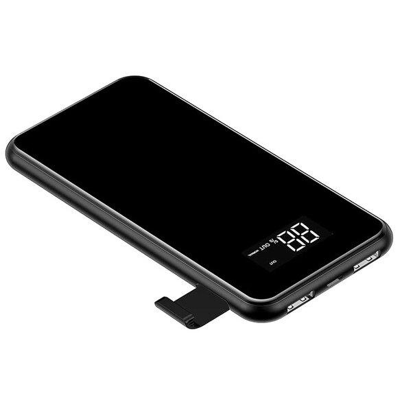 Внешний аккумулятор 8000мАч с беспроводной зарядкой Baseus Full Screen Bracket - Черный (PPALL-EX01)