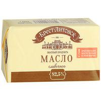 Масло Брест-Литовск сладко-сливочное несоленое 82,5%, 180г