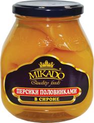 Персики MIKADO половинки в сиропе с/б 530г