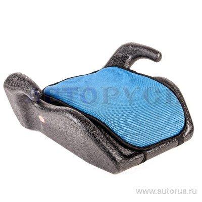 Кресло-бустер детское автомобильное группа 3 от 22кг до 36кг синее SIGER мякиш
