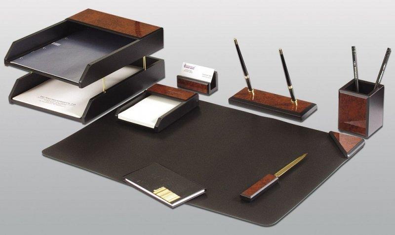 Набор настольный GOOD SUNRISE 7 предметов, с 2 ручками, цвет: темное дерево