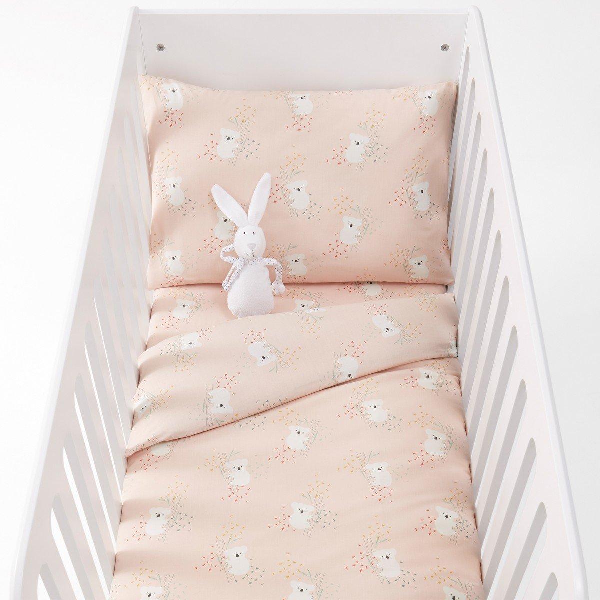 Постельное La Redoute Белье для детской кроватки с рисунком коалы LOUISA 80 x 120 см розовый