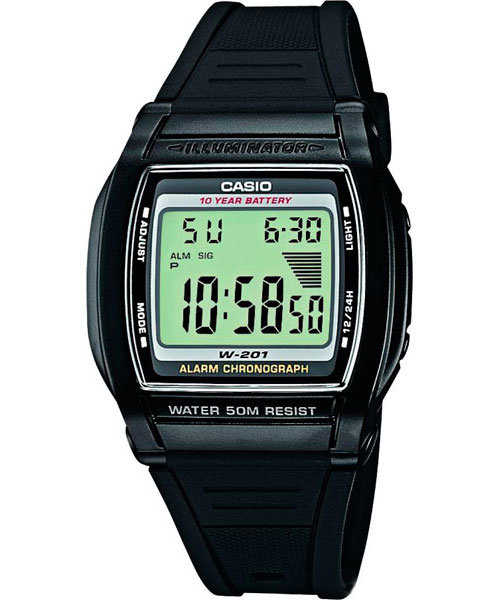 Японские наручные часы Casio W-201-1A