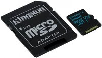 Карта памяти 64Gb MicroSD Kingston Canvas Select Class 10 + адаптер (SDCS/64GB)
