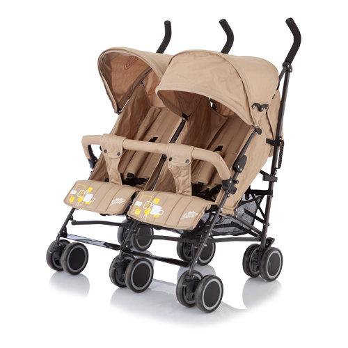 Коляска-трость для двойни Baby Care - Citi Twin, khakki Baby Care
