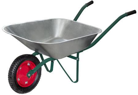 Тачка садовая WB 4307 в т у (оцинк., 130кг, 65л., пневмат. колесо тип2 330мм) (092696)