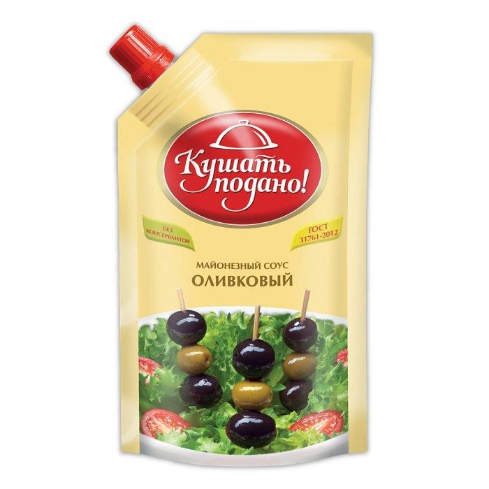 Майонез скит Кушать подано оливковый 25% 400г