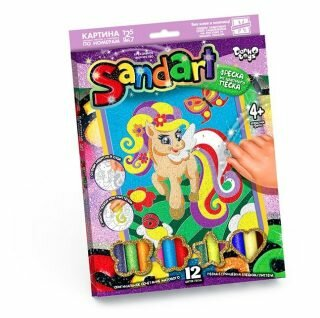 Фреска из песка Danko Toys Пони и радуга