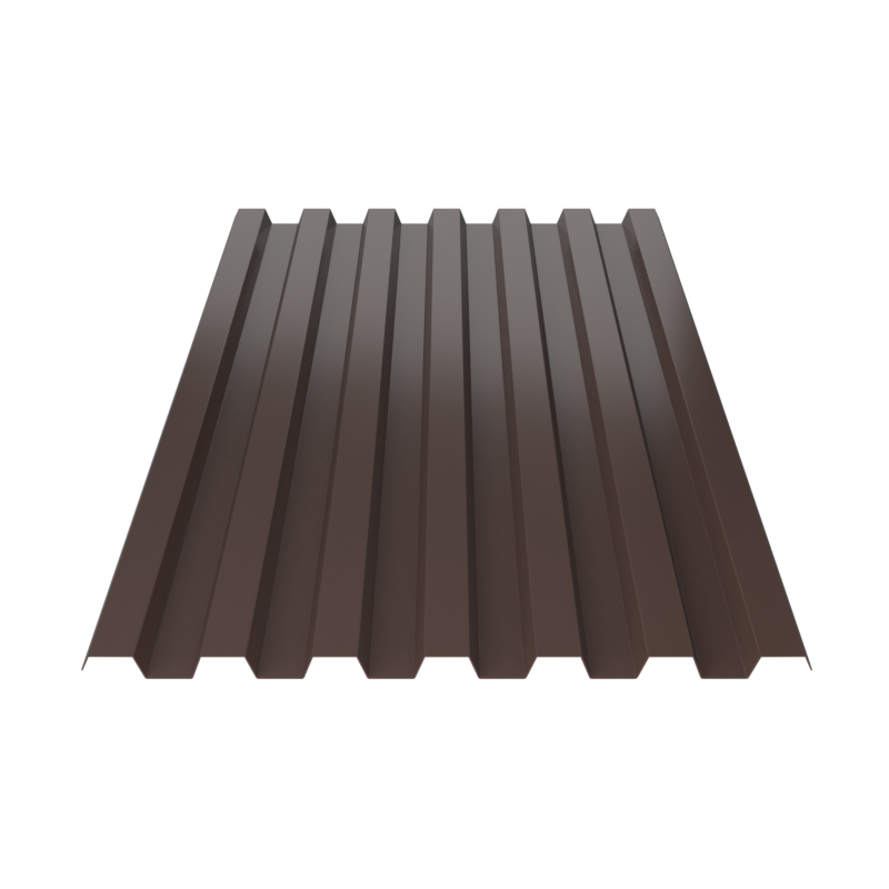 Профнастил Металл Профиль С-21 2х1,05 коричневый 0,4 мм