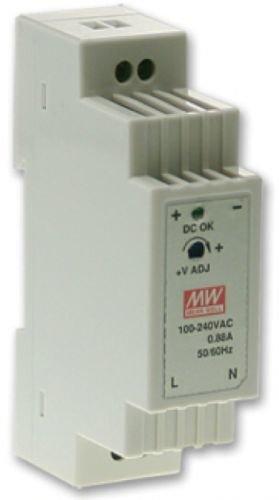 Преобразователь AC-DC сетевой Mean Well DR-15-24 источник питания 24В с универсальным входом от 85 до 264 В AC, мощность 15Вт / 0,63А, монтаж на DIN-р