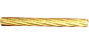 Трубка витая с узкой полосой D10 (3м), латунь, COR 10 ГусевЪ