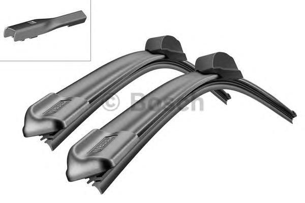 Щетка стеклоочистителя комплект BOSCH Aerotwin A555S, 600 мм / 400 мм, бескаркасная, 2шт, 3397007555