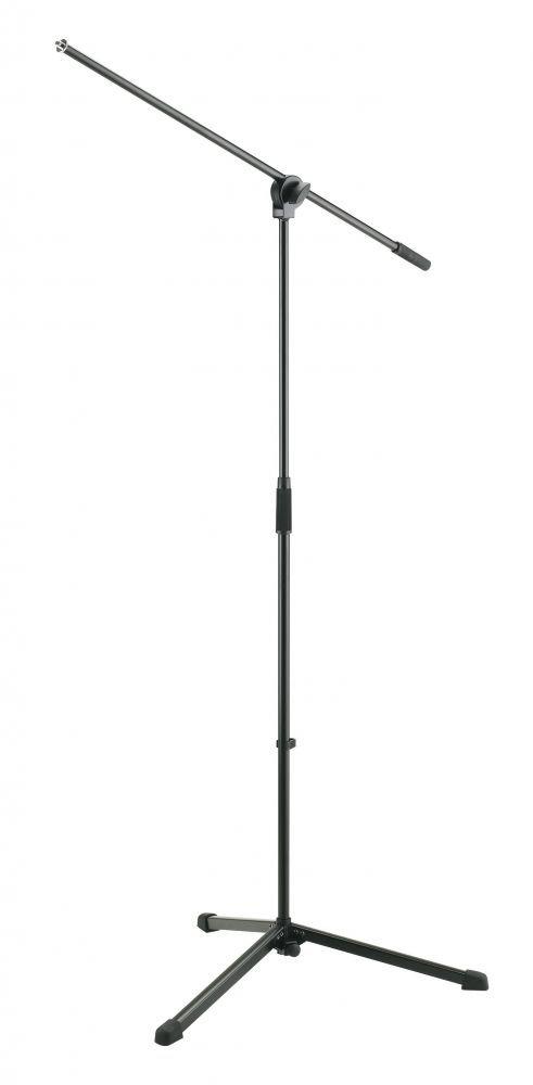 K&M 25400-300-55 микрофонная стойка `журавль`, высота 890-1600 мм, длина журавля 680 мм, цвет черный