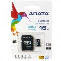 Карта памяти ADATA microSDHC 16Gb Premier Class 10 UHS-I U1 + ADP (40/15 MB/s)