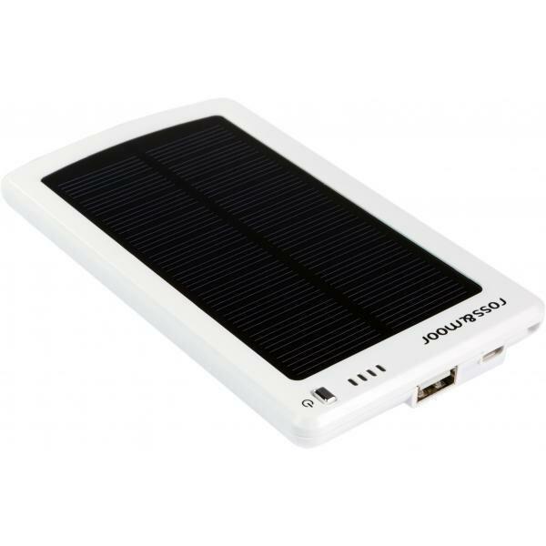 Универсальный внешний аккумулятор Ross&Moor MP-S3000B 3400 мАч белый Встроенная солнечная батарея 5В/250 мА Выход 5В/1А