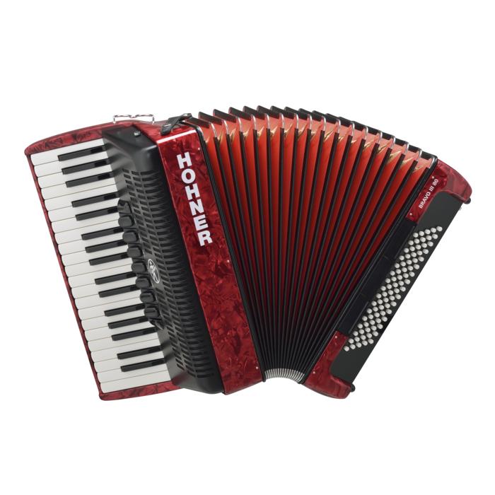 HOHNER The New Bravo III 80 red (A16431) аккордеон 7/8, цвет красный