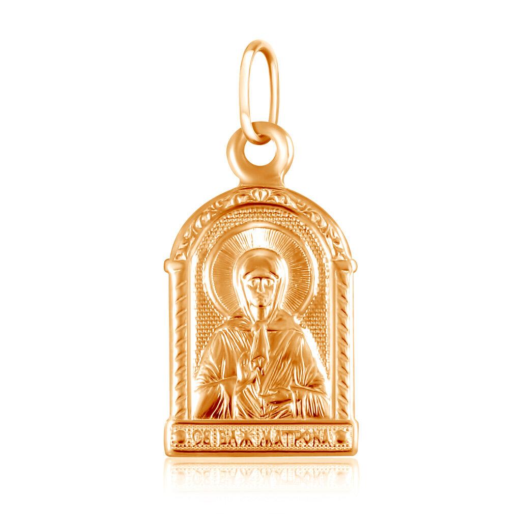 Подвеска иконка из золота Святая Матрона