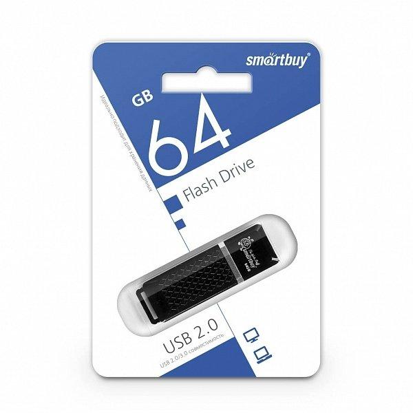 USB флешка 64Gb SmartBuy Quartz black USB 2.0