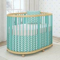 Детская овальная кроватка Giovanni Shapito TreeO Mint