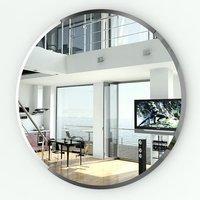 Зеркало круглое с фацетом 050Ф диаметр 65 см.