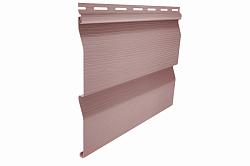 Сайдинг наружный виниловый Ю-пласт Корабельный брус Розовый