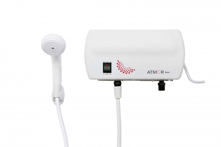 Проточный водонагреватель 3,5 кВт Atmor basic 3500 душ на душ