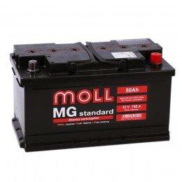 Автомобильный аккумулятор MOLL MG 80RS (низкий) 750А обратная полярность 80 Ач (315x175x175)