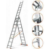 Трехсекционная лестница Эйфель Гранит 3х10 (арт. Гранит 3x10)