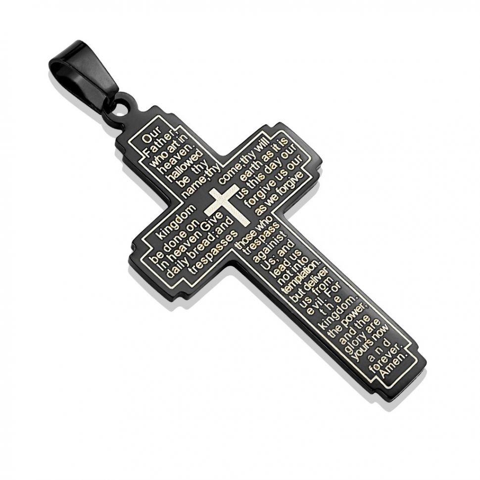Кулон Spikes SSPM-6786-K из стали в виде креста