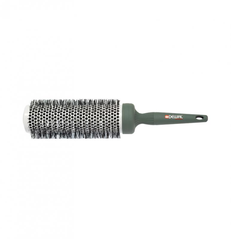 Брашинг для волос на сплошной деревянной или пластиковой ручке без отверстий используется для расчесывания и укладки.