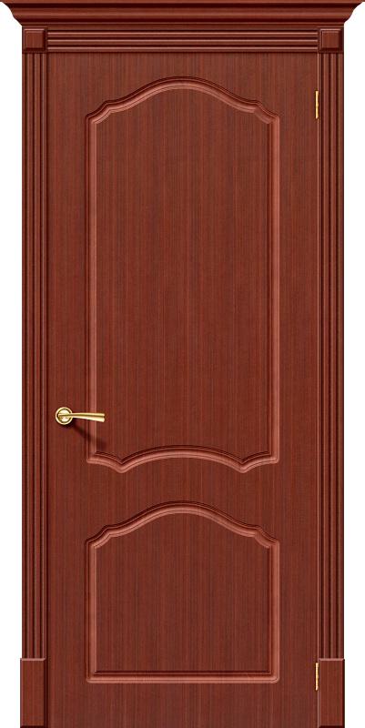 Межкомнатная дверь Браво Каролина макоре шпонированная, Глухая / 900x2000 / Полотно
