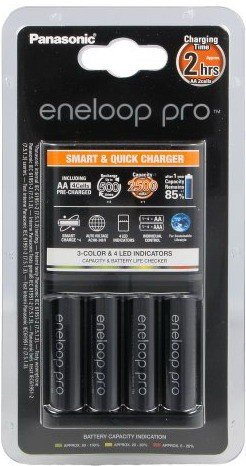 Зарядное устройство Panasonic eneloop pro K-KJ55HCD40E Smart&Quick Charger + 4AA2500mAh BL1