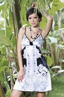 Сорочка с белым принтом