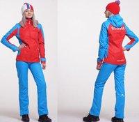 Костюм ветрозащитный NORDSKI National женский 461970 красный/синий