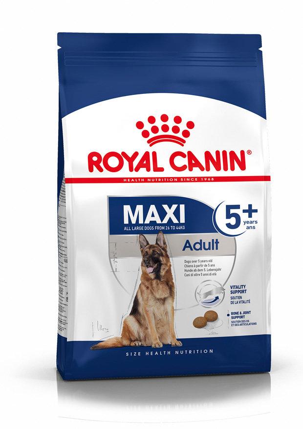 Сухой корм Royal Canin Корм для собак крупных пород старше 5 лет, Maxi Adult 5+, 15 кг