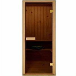Дверь стеклянная 70х190см - бронза.