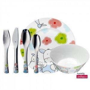 Набор детской посуды 6 предметов FARMILY
