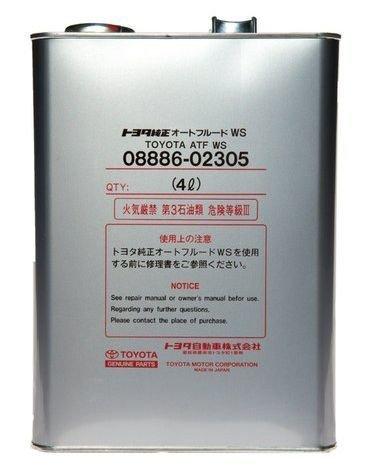 Трансмиссионное масло Toyota ATF WS 4л (08886-02305)