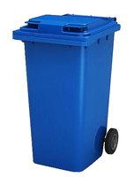 Бак пластиковый для мусора 120 л. на колесах с крышкой, без педали, синий