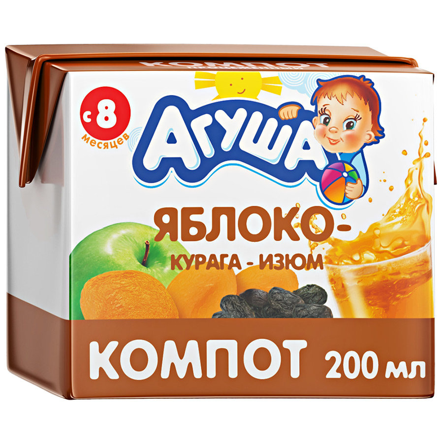 Компот Агуша Изюм-курага-яблоко, c 8 месяцев