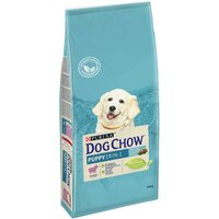 Dog Chow Puppy корм для щенков до 1 года всех пород, с ягненком, 14 кг