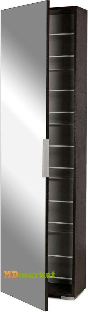 Шкаф для обуви Орлеан Венге с зеркалом
