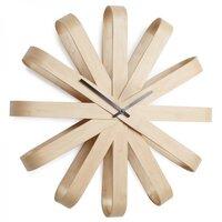 интерьерные часы Umbra Часы настенные Ribbon, 51,2 см, дерево, натуральный