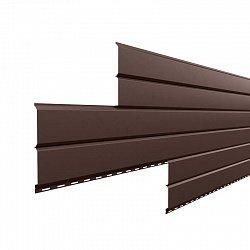 Сайдинг наружный металлический МеталлПрофиль Lбрус Коричневый шоколад 2м (Colorcoat Prisma, 0,5мм, глянец.)